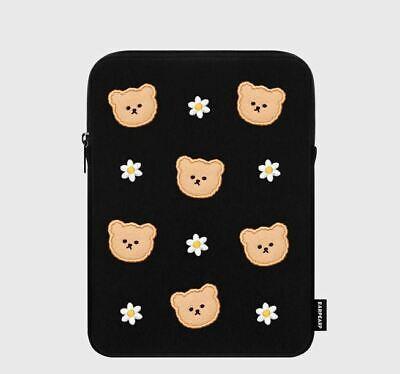 EARPEARP bear black ipad pouch Tablet Cover Air Mini Soft Case 11inch