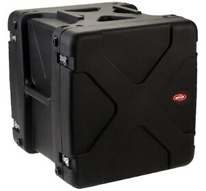 2 SKB Roto Shockmount Rack Cases: 12U & 14U Rackspace. Brand New