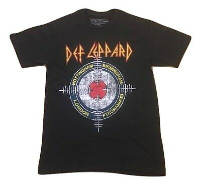 Live Nation Def Leppard Crosshairs Pyromania 83 Retro Distressed T Shirt S 2Xl