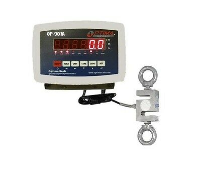 750 X 0.1 Lb Calibrated S-type Load Cell With Indicator Crane Scale Tension