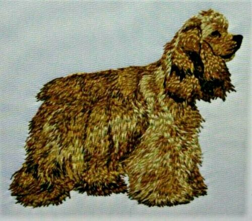 American Cocker Spaniel Dog Breed Bathroom SET OF 2 HAND TOWELS EMBROIDERED