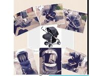 Silvercross 3D pushchair with matching car seat