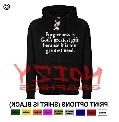 Forgiveness Gods Greatest Gift Christian Hoodie Black Sweatshirt Jesus Religious - Jesus Greatest Gift
