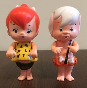 Vintage Pebbles and Bamm-Bamm Sip-Along Kids Dolls