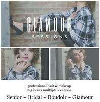 Glamour Photoshoots. Professional hair and makeup