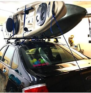 Roof rack and kayak carrying system