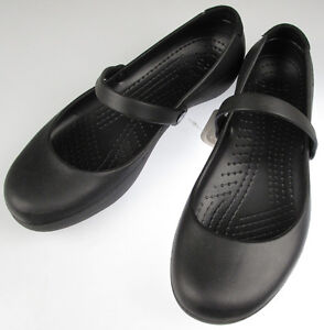 CROCS-Alice-Black-Mary-Jane-slip-resist-work-Garden-Walk-Shoes-SIZE-8-W-NEW