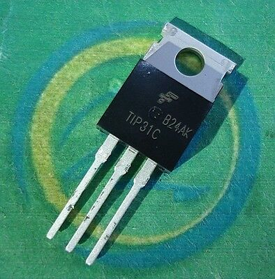 5pcs Tip31 Tip31c Fsc Npn Transistor 100v 3a To-220 Ic New