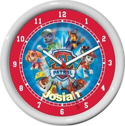 Paw Patrol Personalized Wall Clock Child Boy/Girls Room Cute Gift