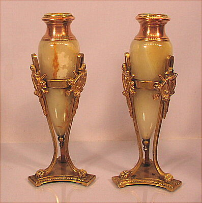 Paar alte Kerzenleuchter 19 Jahrhundert
