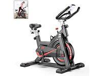 Indoor Exercise Bike Spinning Bike Adjustable Handlebars & Seat