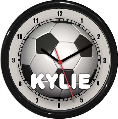 personalized soccer ball wall clock rec room