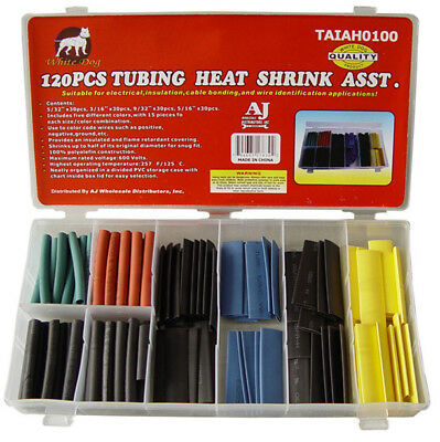 120 Piece Heat Shrink Tubing Assorted Colors Sizes Heatshrink Wrap Tubes Sleeve