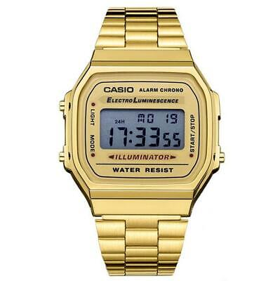 Casio Unisex Digital Quartz Stainless Steel Watch Alarm Calendar 168WA