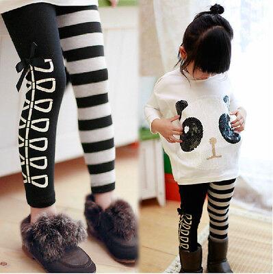 2pcs Toddler Infant Girls Outfits panda coat + striped pants Kids Clothes Set