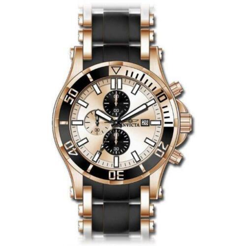 Invicta Men's 1478 Sea Spider Chronograph Gold Dial Black Po