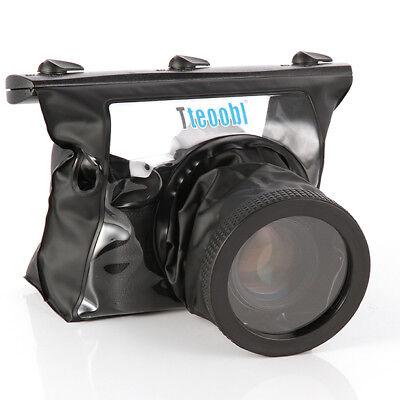 20M Camera Waterproof Underwater Housing Case Bag Lens 14cm for Canon Nikon USA