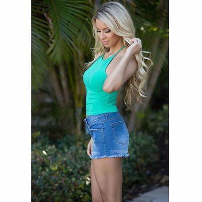 Women Boho Tank Top Halter Bustier Bra Vest Crop Tops Bralette Shirt Blouse Cami