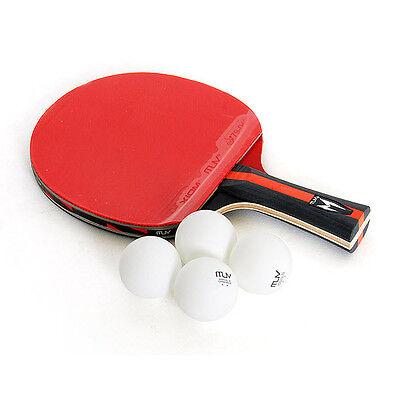 XIOM M2.4S Table Tennis Ping Pong Racket Paddle Bat Blade Shakehand + 4 balls