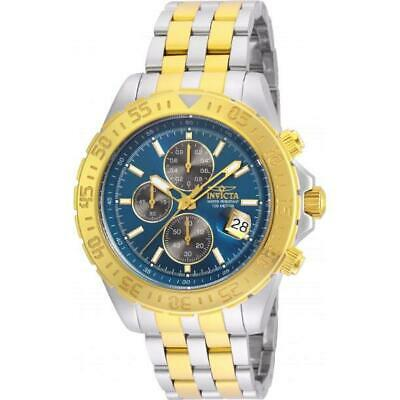 Invicta Aviator 22989 Men's Round Analog Two Tone Chronograph Blue Dial Watch