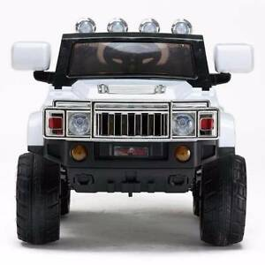 12v Hummer Style Kids Electric Ride On Car - White Revesby Bankstown Area Preview