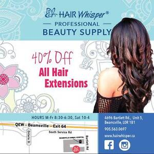 40% OFF ALL HAIR EXTENSIONS!! SPRING SPECIAL AT HAIRWHISPER