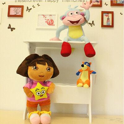 NEW!3X DORA The Explorer Swiper Fox Boots The Monkey Plush Toy Stuffed Doll 10''