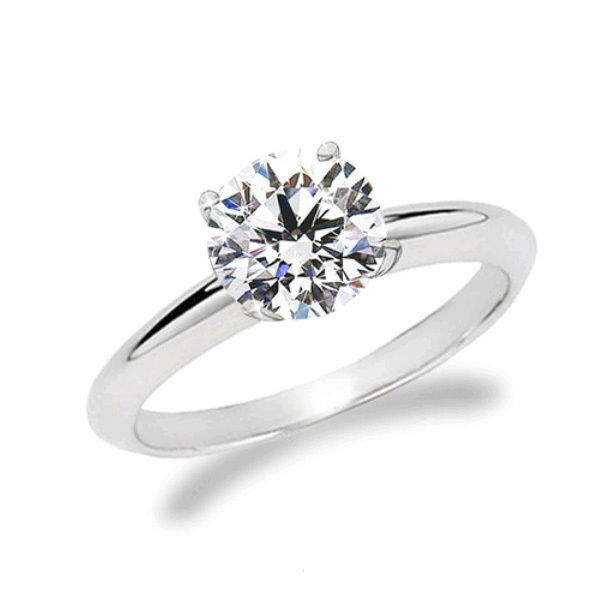 Natural Diamond Solitaire Engagement GIA Certified Ring 1.50 Ct Round Cut 18k