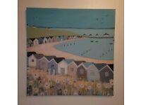 Next beach huts, seaside canvas