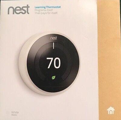 ✅*BRAND NEW SEALED* Nest 3rd Generation Learning Thermostat - White T3017ES