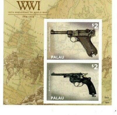 Palau - 2014 - 100th Anniversary of World War I - Souvenir Sheet - MNH