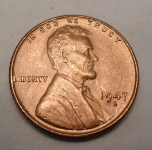1947 S Lincoln Wheat Cent / Penny Coin   *FINE OR BETTER*  **FREE SHIPPING**
