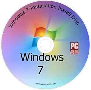 Windows 7 Installation Install Reinstall Repair DVD Disc All Versions 32/64 bit