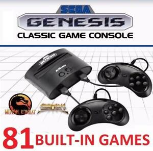 NEW SEGA GENESIS 81-GAME CONSOLE 168158518 81 BUILT IN RETRO VIDEO GAMES