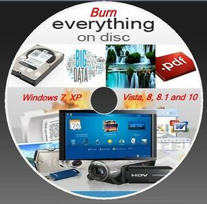 CD  DVD  COPY BURNING SOFTWARE- BURNER PROGRAM - WINDOW ( XP,VISTA,7,8,8.1,10 )