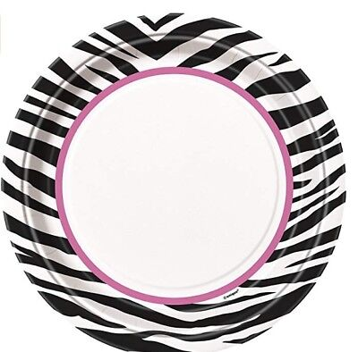 ZEBRA PASSION Birthday Baby Bridal Shower Party Supplies Large 9