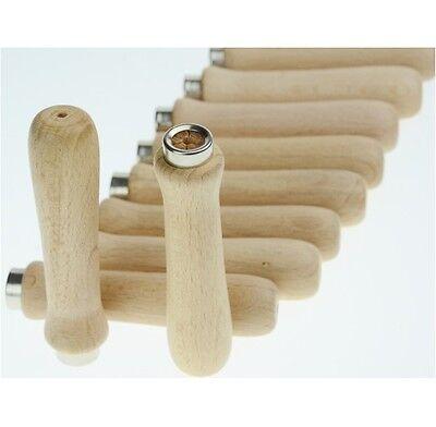 Feilenheft 10 Stück Set Holz-Feilengriff Holzgriff 120mm Holzfeilenheft Feile