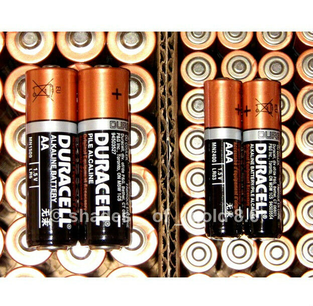 50 AA + 25 AAA Duracell CopperTop Duralock - 75 Brand New Alkaline Batteries