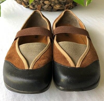 Earth Kalso Intrigue Moss Leather Womens Flats Mary Janes Shoes Size 9B