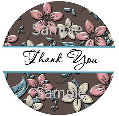 Thank You Stickers Flower Power Splash 90 1 Inch Sticker Seal Labels