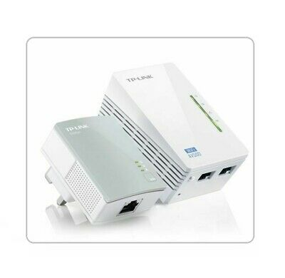 Genuine TP-Link TL-WPA4220 AV600 WiFi Kit Powerline Extender / 300Mbps Wi-Fi