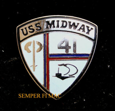 USS MIDWAY CVA-41 CV US NAVY HAT PIN UP JAPAN SAN DIEGO CA AIRCRAFT CARRIER WOW