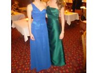 Green Ball gown / prom dress / size 8