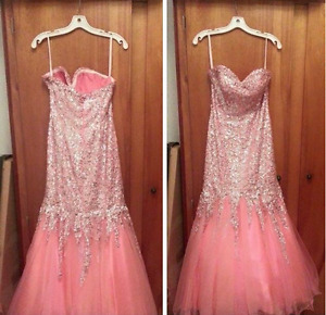 Mermaid Strapless Prom/banquet dress