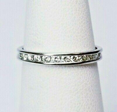 PLATINUM PT950 DIAMOND ENGAGEMENT BAND ETERNITY RING 1/3 CARAT
