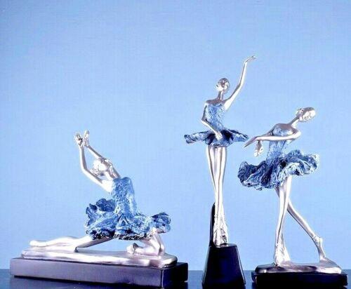 Ballerina Statue Resin Sculpture Figurine Tabletop Ornament Home Office Decor S