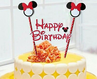 Minnie mouse Birthday Cake Topper Decoration Party Supplies.](Minnie Cake Decorations)