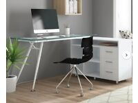 BRAND NEW - Full Home office desk (Leather chair, Desk and cabinet) for Sale