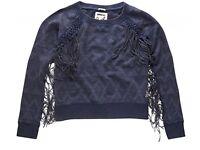 Superdry Women's Neonomad Tassel Indigo Top Brand New Size Small RRP £45