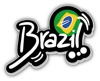 Bumper Sticker Labels (Brazil Flag Label Car Bumper Sticker Decal 5'' x)